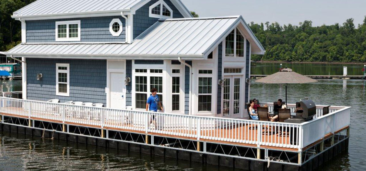 2 Story Houseboat Harbor Cottage Houseboats
